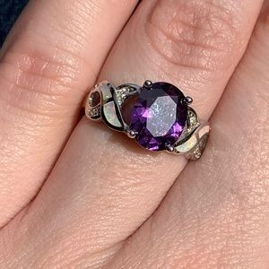 Silver with Faux Amethyst